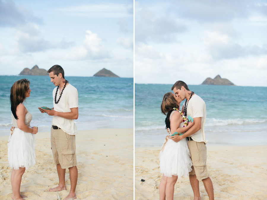 lanikai beach vow renewal tracey tucker pinky photography. Black Bedroom Furniture Sets. Home Design Ideas